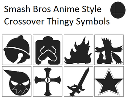 Smash Bros Anime Style Crossover Thingy Symbols by Karasu-96