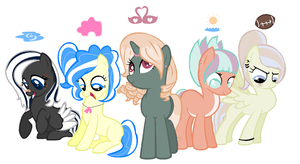 Mane 5 Adopts *CLOSED* by PinkPopcornWithSoda