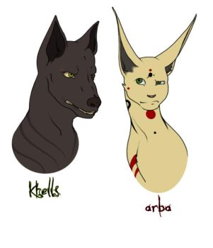 100508 Arba and Khells by celestial-fox