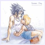 sasunaru- yaoi - summer fling by askerian