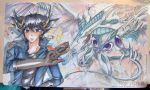 collab- my yugioh 5Ds playmat by slifertheskydragon