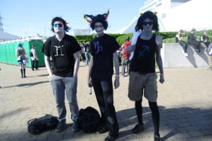 MCM Expo May 2012 - Sollux Sober Gamzee and Equius by canineshadowlover