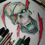 Skull Markers, Again playing with markers. by Daviddleonluis