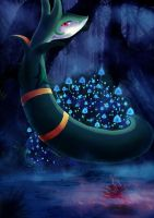 Serpiroyal/Serperior by Marshmellow-Ghost