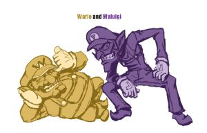 dan redraws Wario and Waluigi by dan-heron