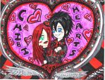 Chibi King+Queen of Hearts 83 by ManaDarkMagicianGirl