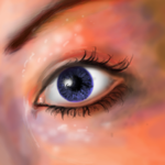 Eye started to paint by Ceeli-chan
