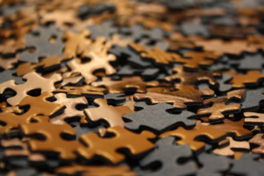 pieces of a puzzle by Orangepawy