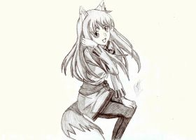 "Holo the Wise Wolf  ""Spice and Wolf"" by Okabe001"