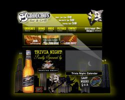 Grouchos Bar and Grill website by DukeDalton