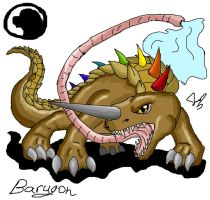 godzilla animated: Barugon by Blabyloo229