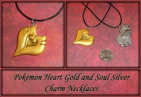 Pokemon Heart Gold Charm Necklace by YellerCrakka