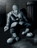 Homeless Soldier by Menaria