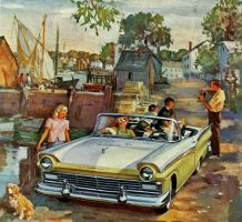 age of chrome and fins : 1957 Ford by Peterhoff3
