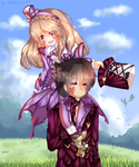 Monster Hunter 4 Ultimate Couple (+Speedpaint) by chizuchiyoko