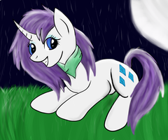 Rarity loves Rain x3 by CKittyKat98