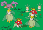 Art Trade - Luxa into Lilligant by TheHeroofHarmony