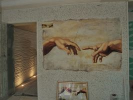 Mural and gypsum by koncaliev