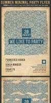 Summer Minimal Party Flyer Template by Hotpindesigns