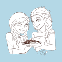 Frozen - Happy White Day by blackteakimi