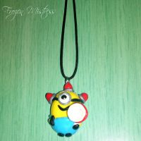 Bee-Do Minion Necklace by frozenmistress