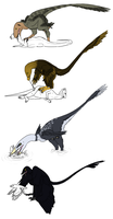 Dromaeosaur Predation Styles - Now in Technicolor by StygimolochSpinifer