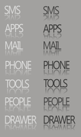 Text Icons BW by desylvia