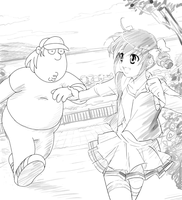 Miyuki and Chris Griffin by henocchi