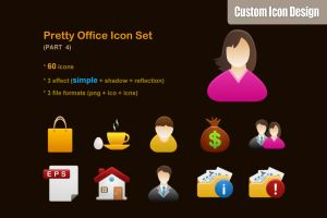 Pretty Office Icon Set part 4 by customicondesign