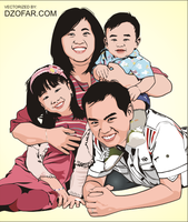 Happy Family Vector Part II by ndop