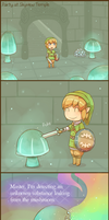 Skyward Sword: Party at Skyview Temple by Cavea