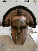 Ancient Greek Cerberus Helmet 1 by Fraxuur