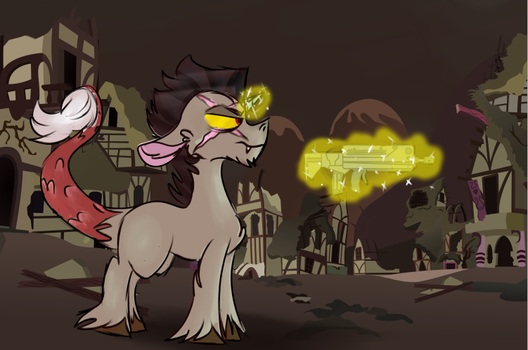 Fallout Equestria Discord pony by CandyEater9115