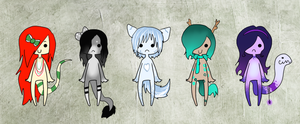 Cute chibi adoptables VII closed by Sakiro-sama