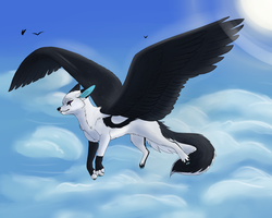 Soaring Above the Clouds by KatsaKitty