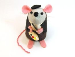 Artist Mouse Male by The-House-of-Mouse