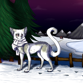 wintercat by Kekekotka