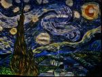 Van Gogh Starry Starry Night Which I  Have paint by GraceDoragon
