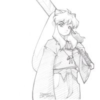 Inuyasha Pencil Sketch Commission by Banzchan
