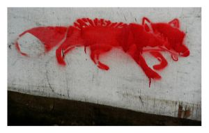 Fantastic Fox Graffiti by ExpectRoses