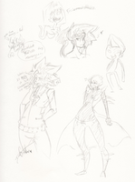 YGO Sketches by Squidbiscuit