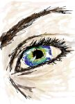 Iridescent Eye by AsharaEarthsoul