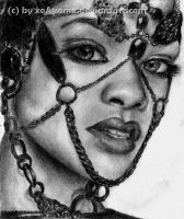 Rihanna Portrait - Finished by xoAyame