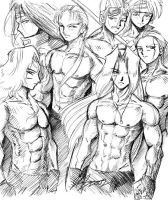 The Bishie Boyz of FF by johnjoseco