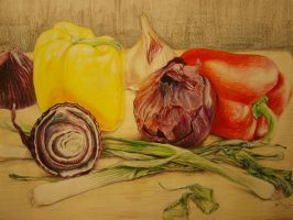 still life vegetables by TheMoho