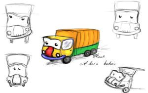 the little dustcar sketches by IronAries