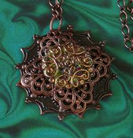 Vintage Button Pendant by cjgrand