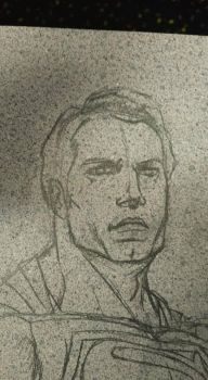 Crater City Comix Tombs WIP Superman face pencil by Wolfgang-Blaine
