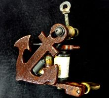 3rd Custom Tattoo Machine by Clockwork-Irons