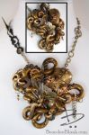 Steampunk Octopus pendant necklace by TinfoilHalo